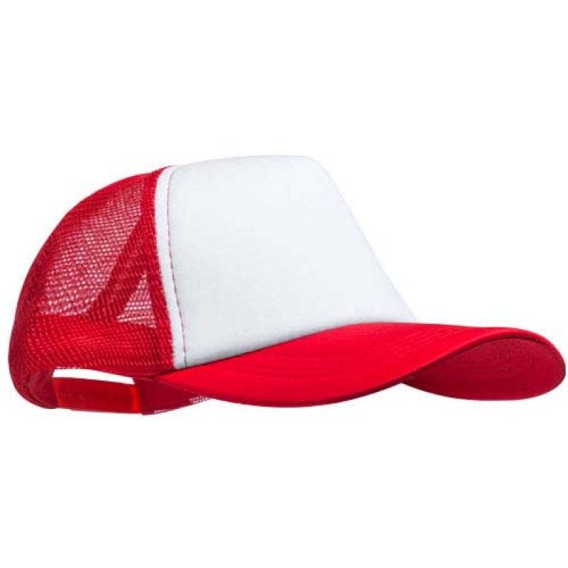 gorra publicitaria rejilla roja