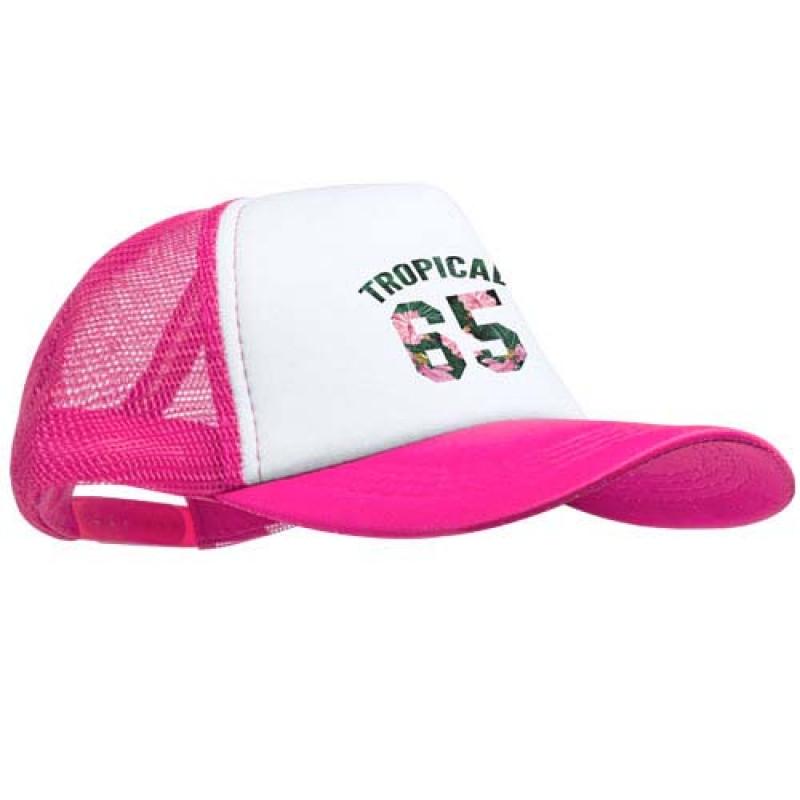Gorra de rejilla personalizable en el frente con la publicidad de su ... 8478de65359