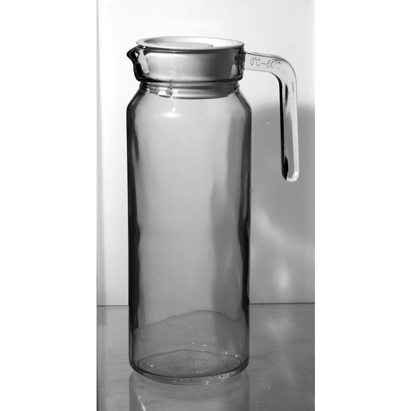 Jarra cristal agua personalizable tapón blanco