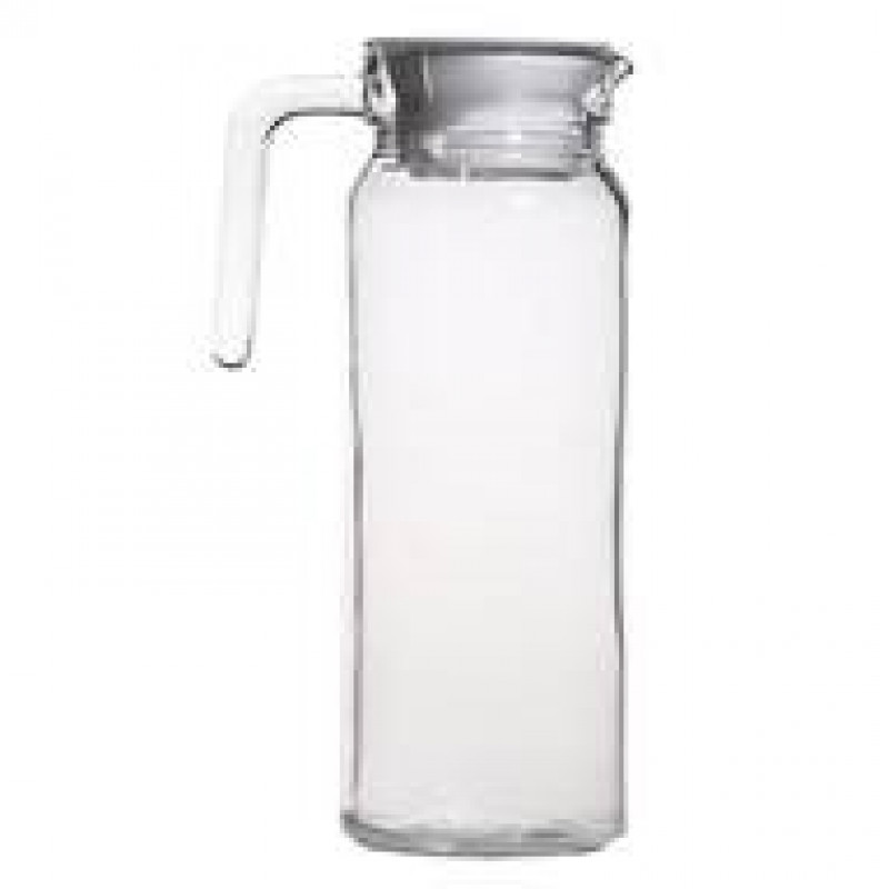 jarra de cristal para servir agua grabada
