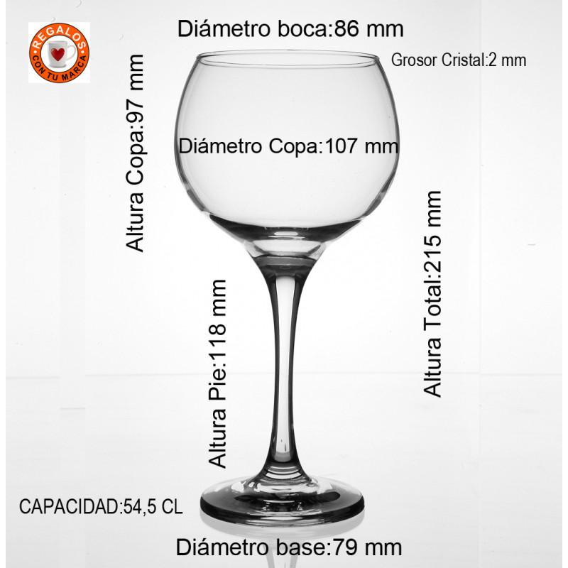 Medidas copa Ambassador 54,5 CL
