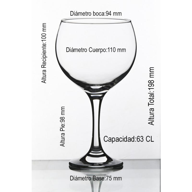 Medidas Copa Gin Tonic personalizable