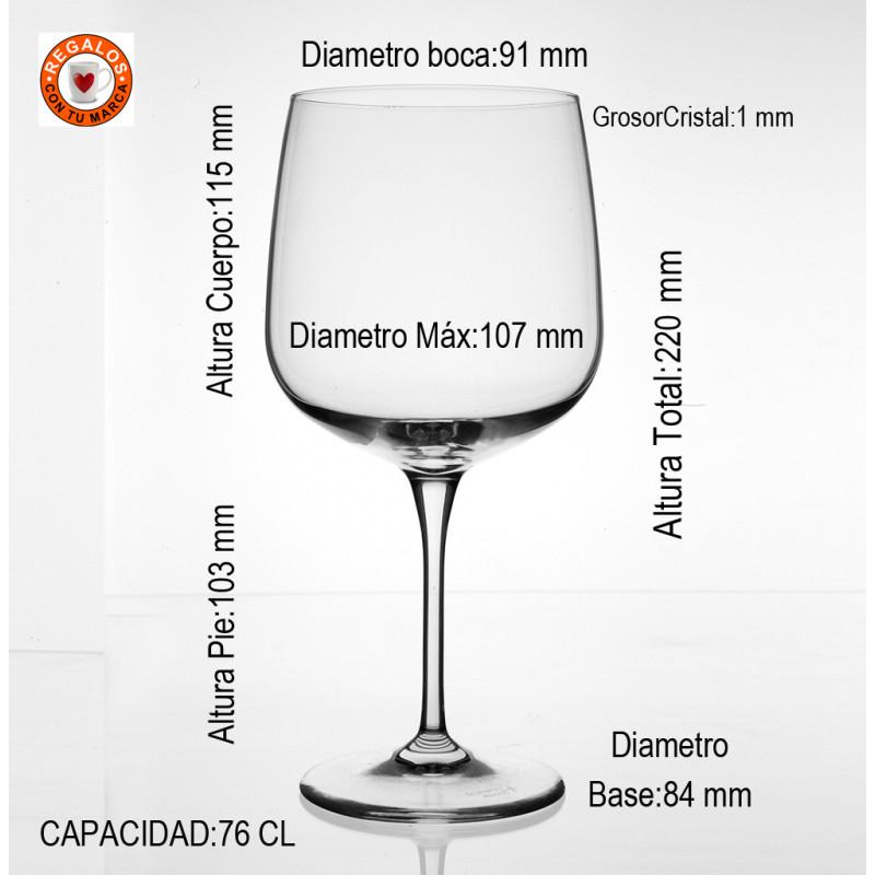 Medidas Copa Cristal Premium