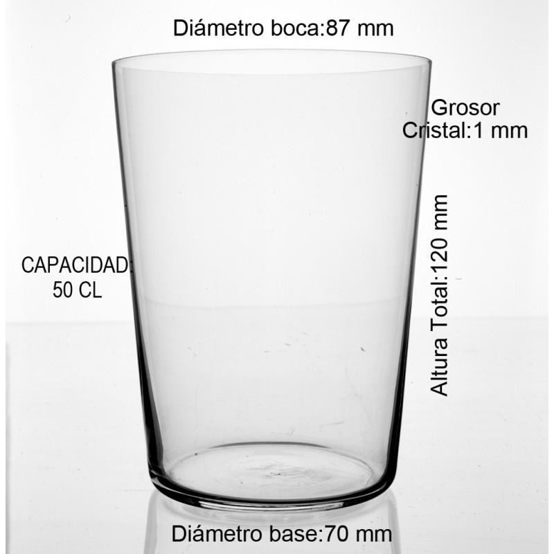 medidas vaso sidra cristal fino 50 CL
