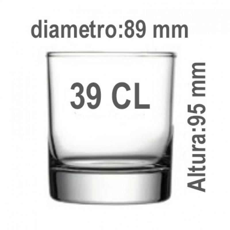 Medidas vaso Whisky 39 CL
