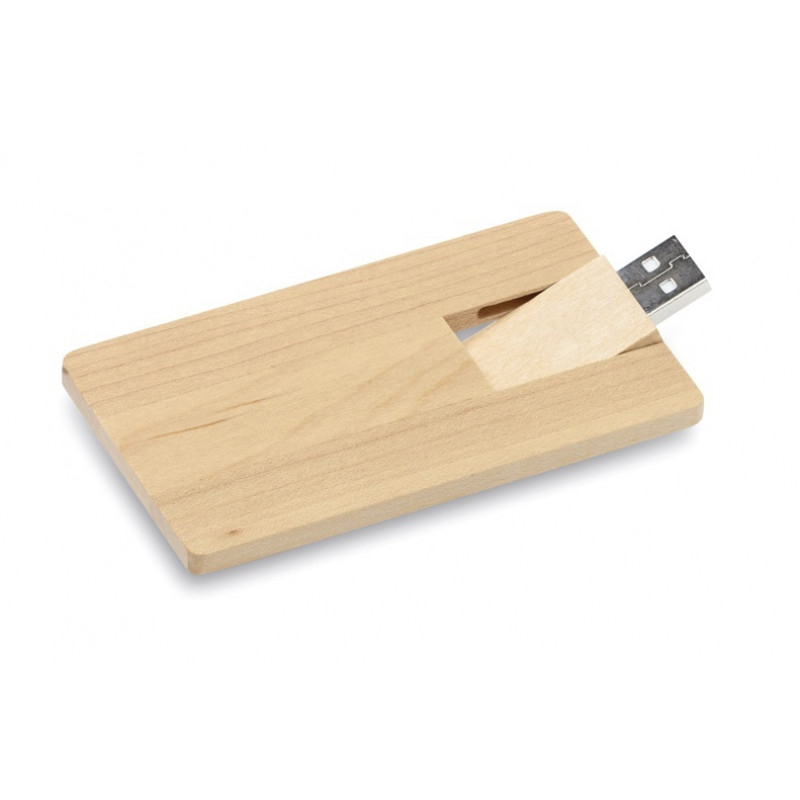 Pendrive memoria Wooden USB.Forma de tarjeta