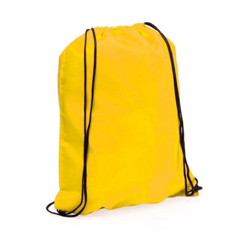 mochila poliester para publicidad color amarillo