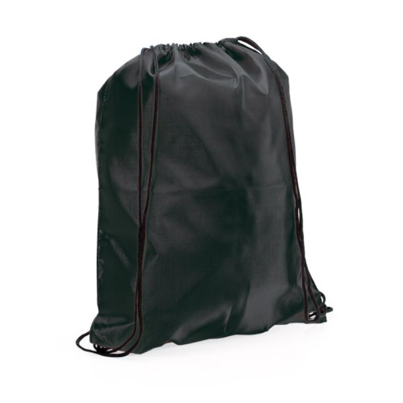 mochila poliester para publicidad color negro