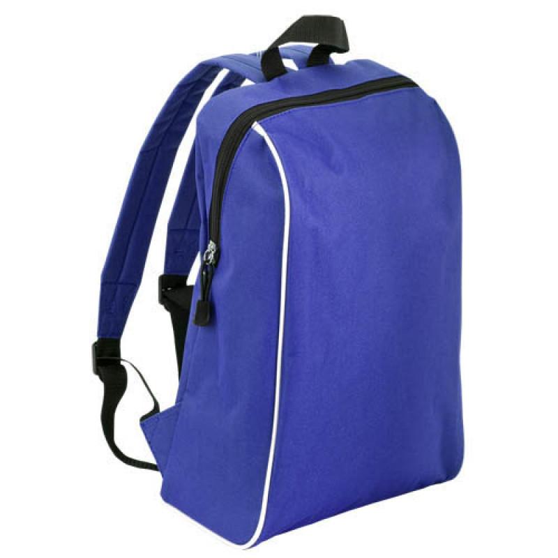 mochila publicitaria tipo escolar azul
