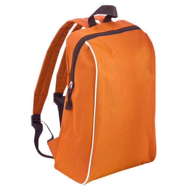 mochila publicitaria tipo escolar naranja