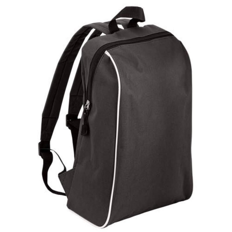 mochila publicitaria tipo escolar negra