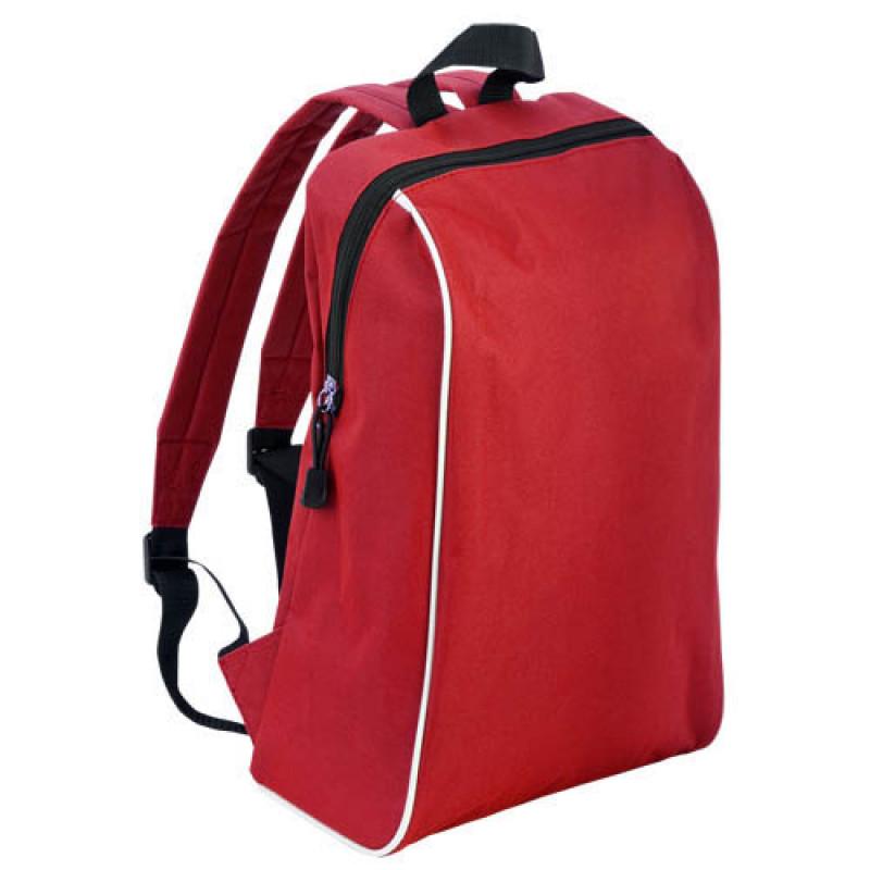 mochila publicitaria tipo escolar roja