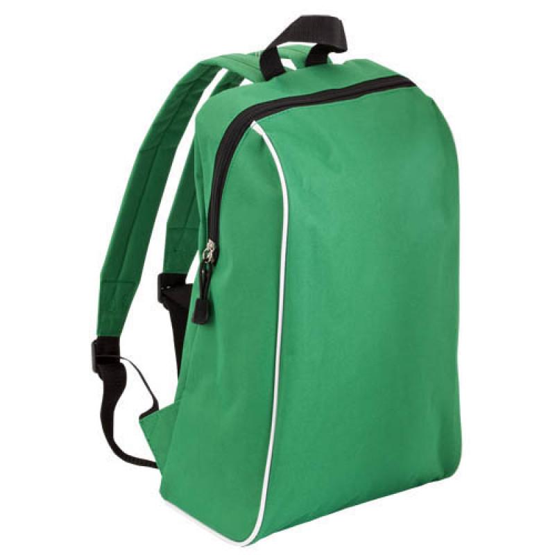mochila publicitaria tipo escolar verde