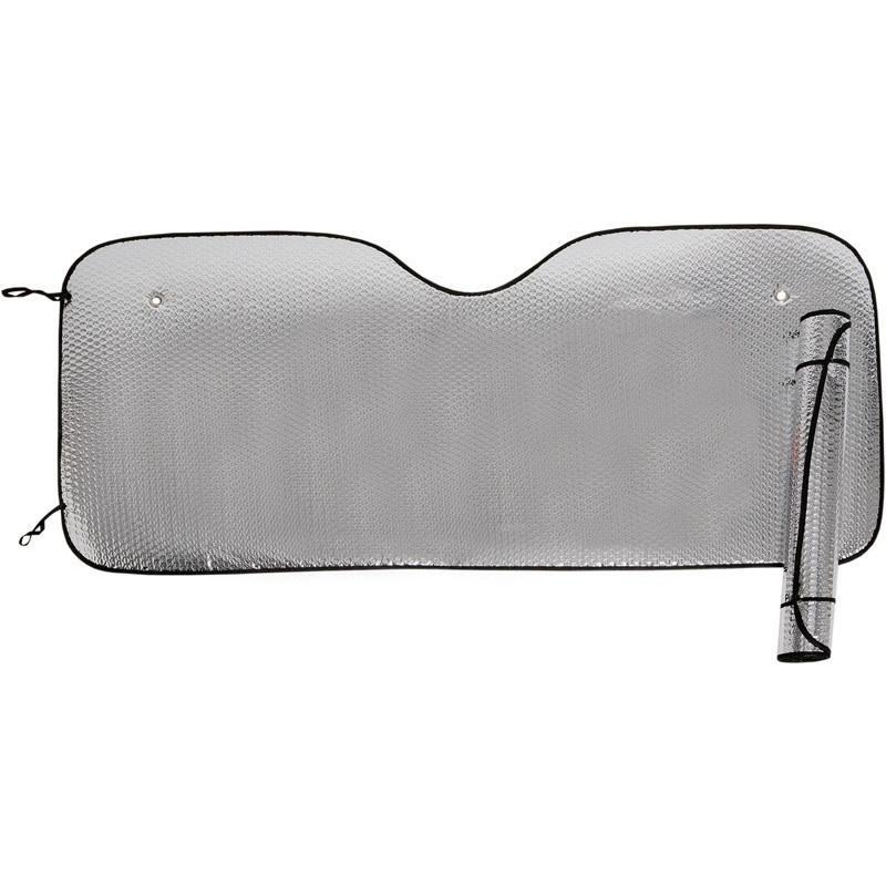 Parasol térmico plateado por las dos caras con ventosas. Tamaño extra grande 70x145 cm