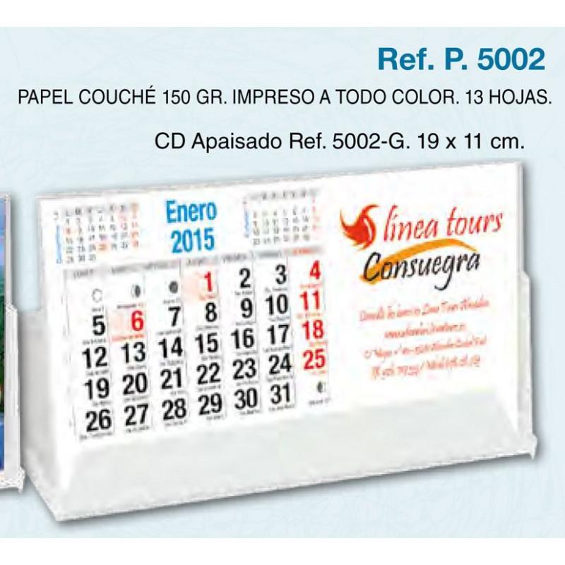 Calendario sobremesa carcasa Cd 13 hojas exclusivas 19x11