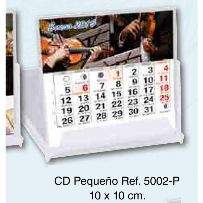 Calendario sobremesa carcasa Cd 13 hojas exclusivas 10x10