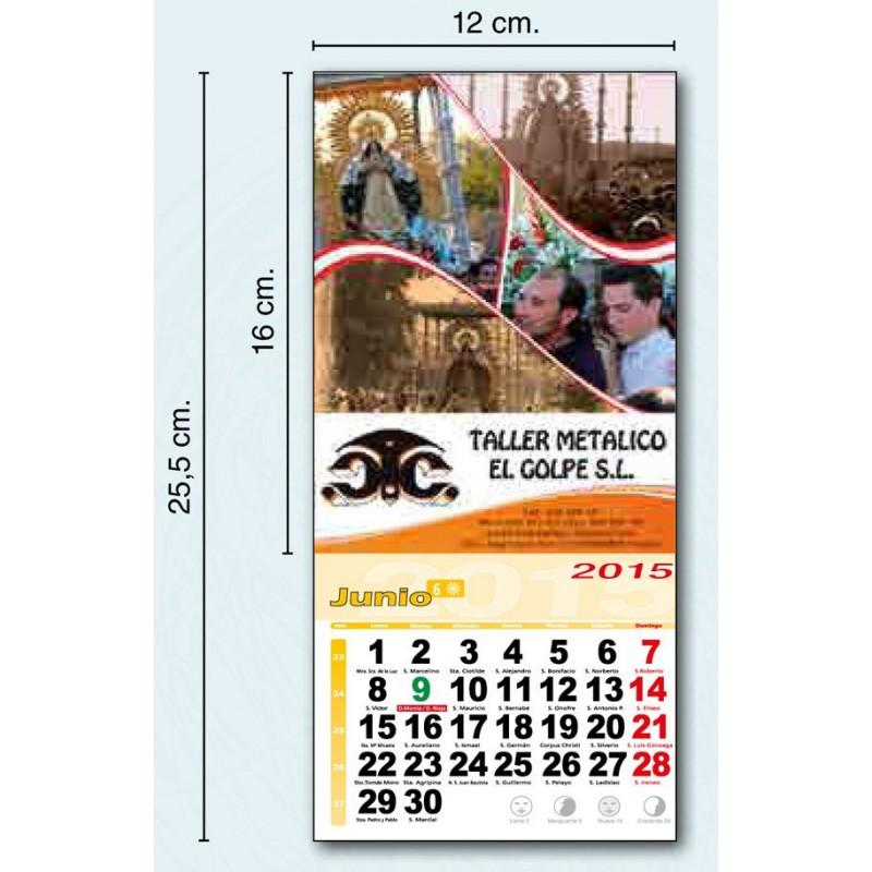 Calendario con imán 2015 publicidad a todo color exclusiva de su empresa.