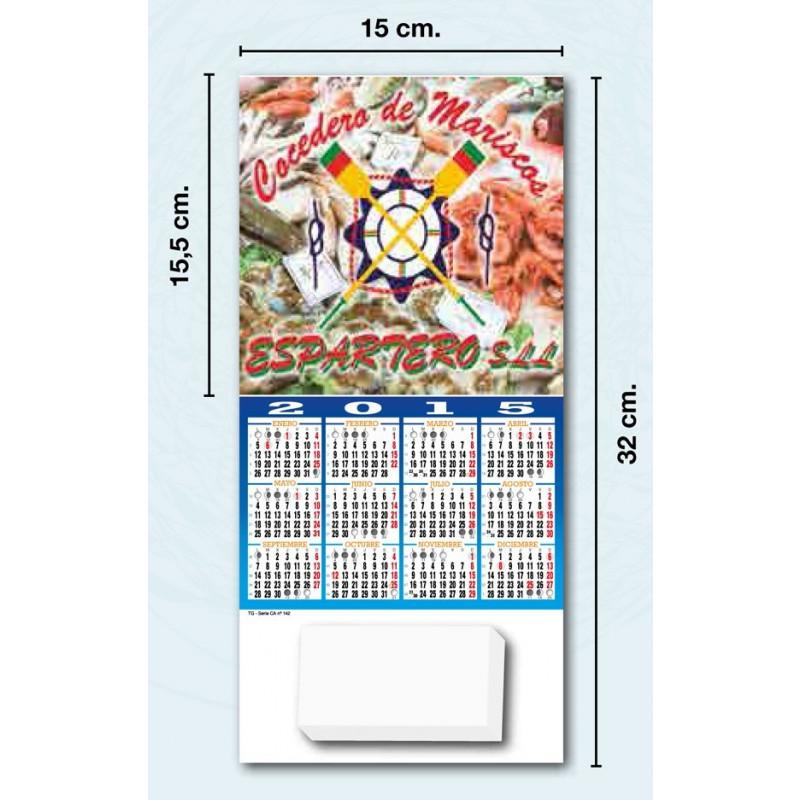 Calendario de cocina con block de notas publicidad a todo color exclusiva de su empresa