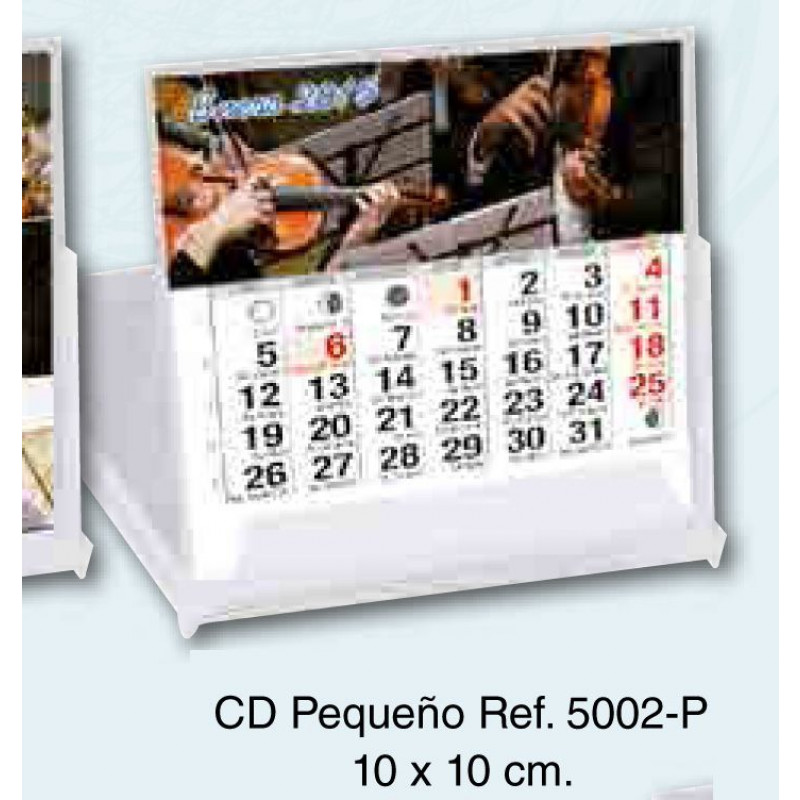 Calendario sobremesa carcasa Cd 13 hojas exclusivas 10x10