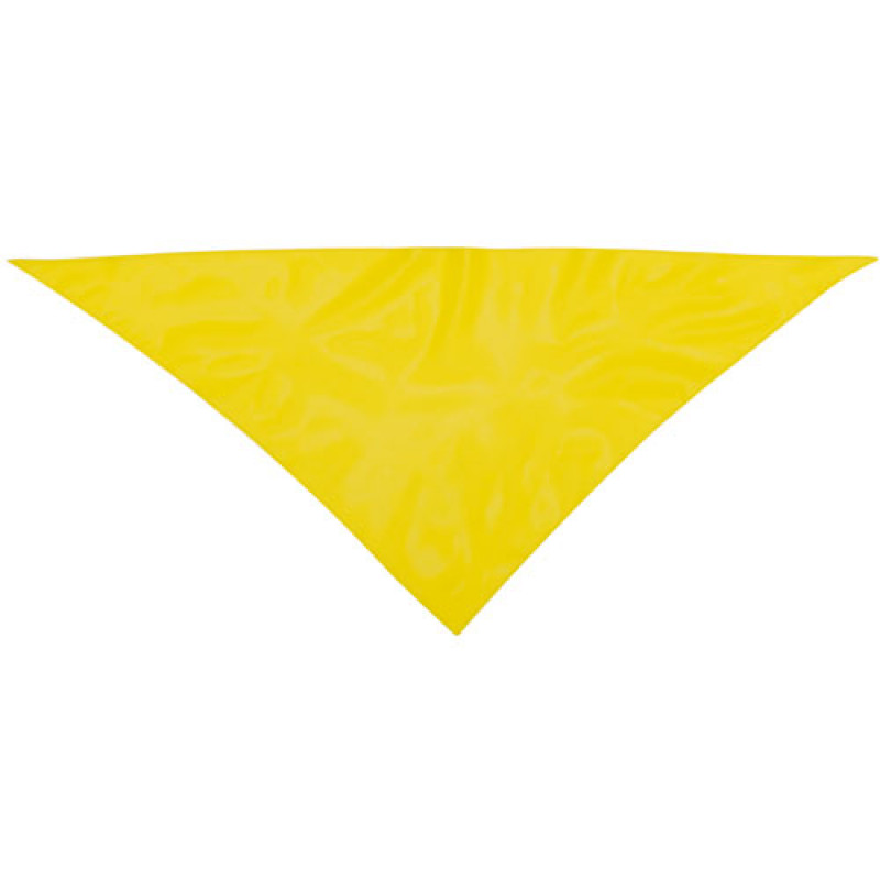 Pañoleta publicitaria para eventos amarilla