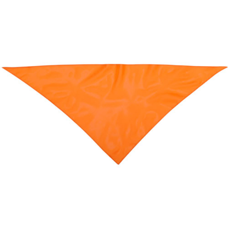 Pañoleta publicitaria para eventos naranja