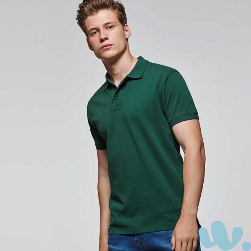 Polo publicitario tejido piké algodón verde