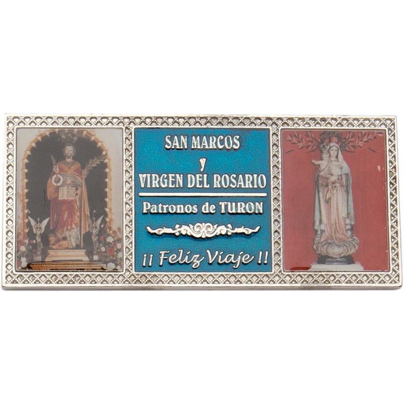 Placa con 2 fotografías, impresas a todo color + texto