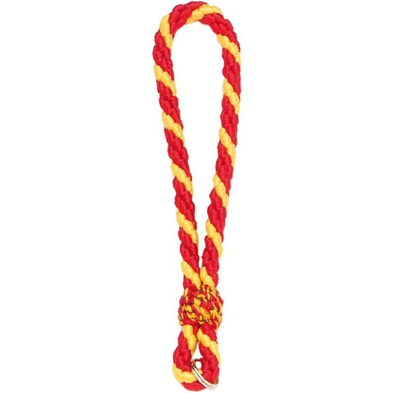 Llavero cordón de 35 cms abierto, con 3 hilos de seda.
