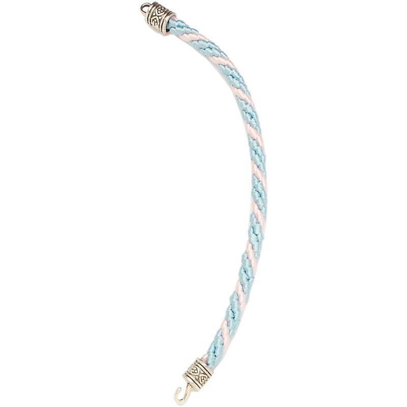 Llavero cordón de 18 cms abierto, con 3 hilos de seda.