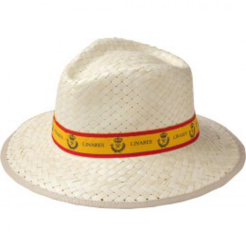Sombrero de fibra doble con cinta publicitaria peersonalizable. 9a6a39c6a03