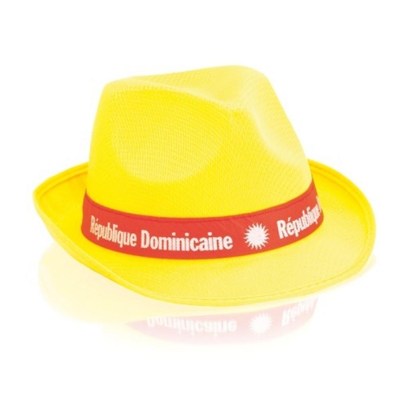 sombrero publicitario amarillo