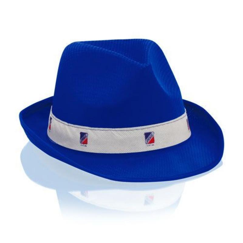 sombrero publicitario azul