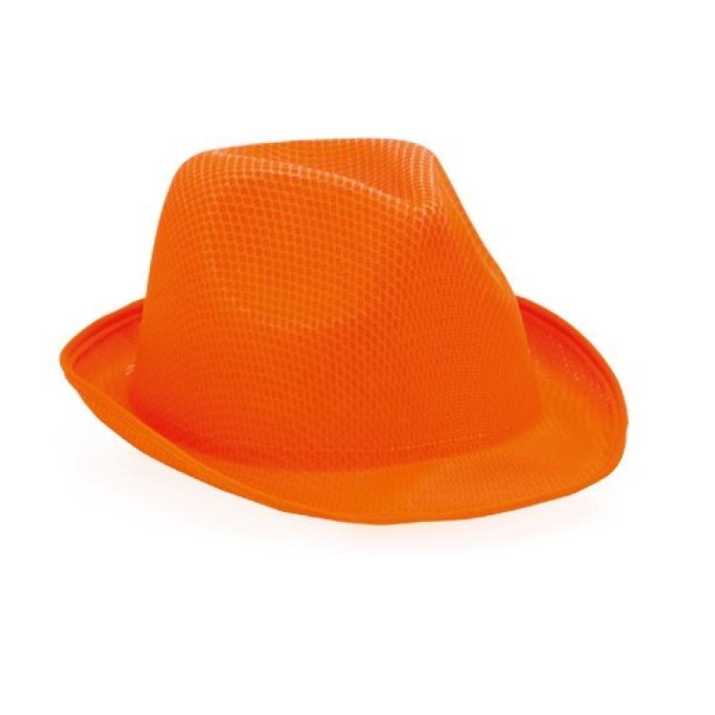 sombrero publicitario naranja