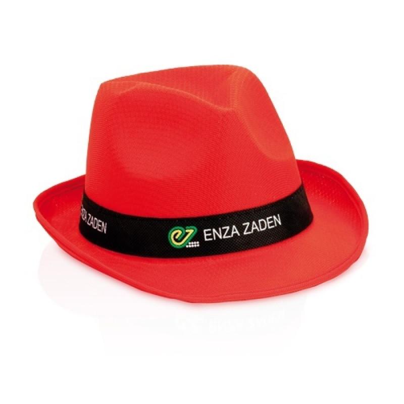 sombrero publicitario rojo