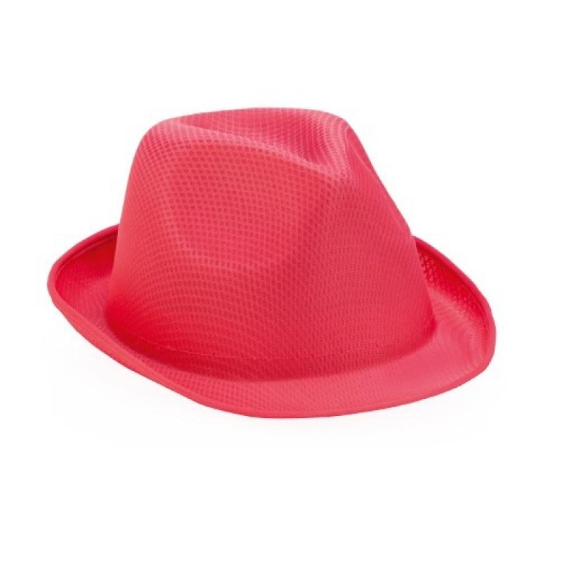 sombrero publicitario rosa