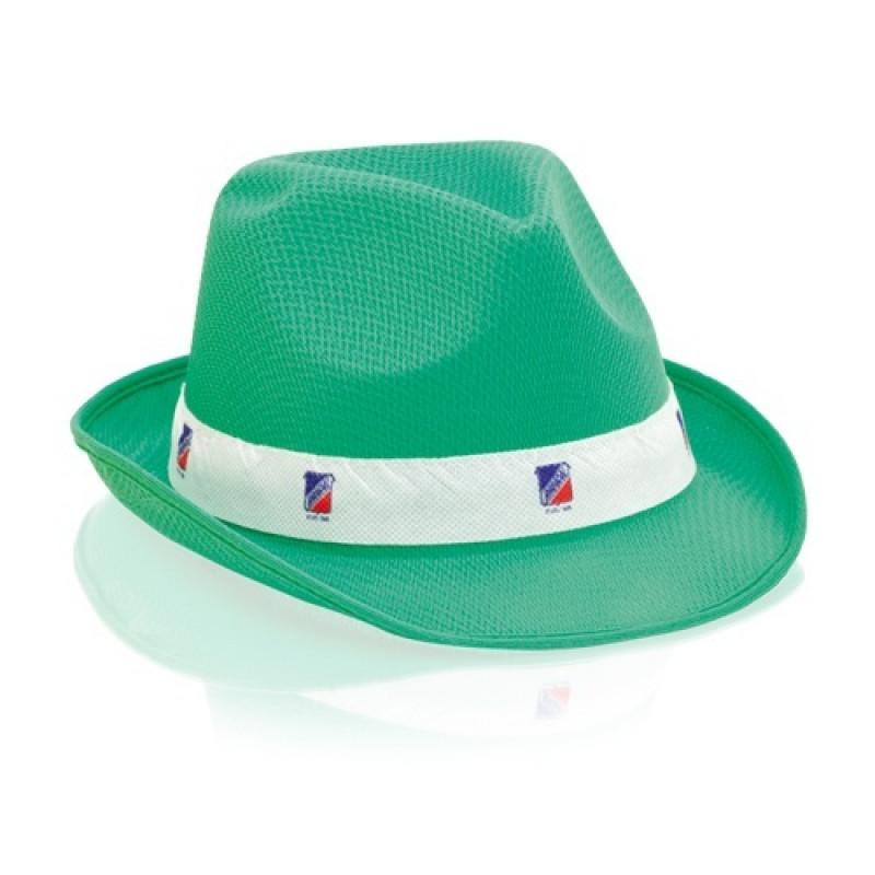 sombrero publicitario verde