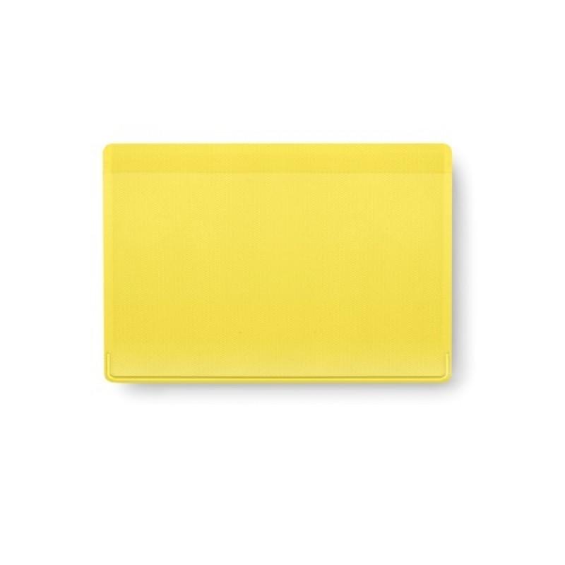 tarjetero PVC kazak  amarillo