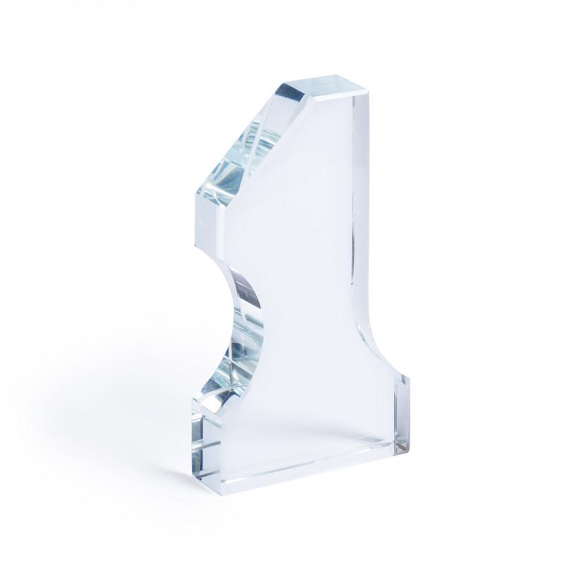Trofeo Número 1 cristal grueso
