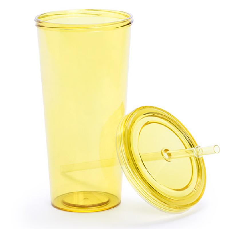 vaso publicitario trinox amarillo
