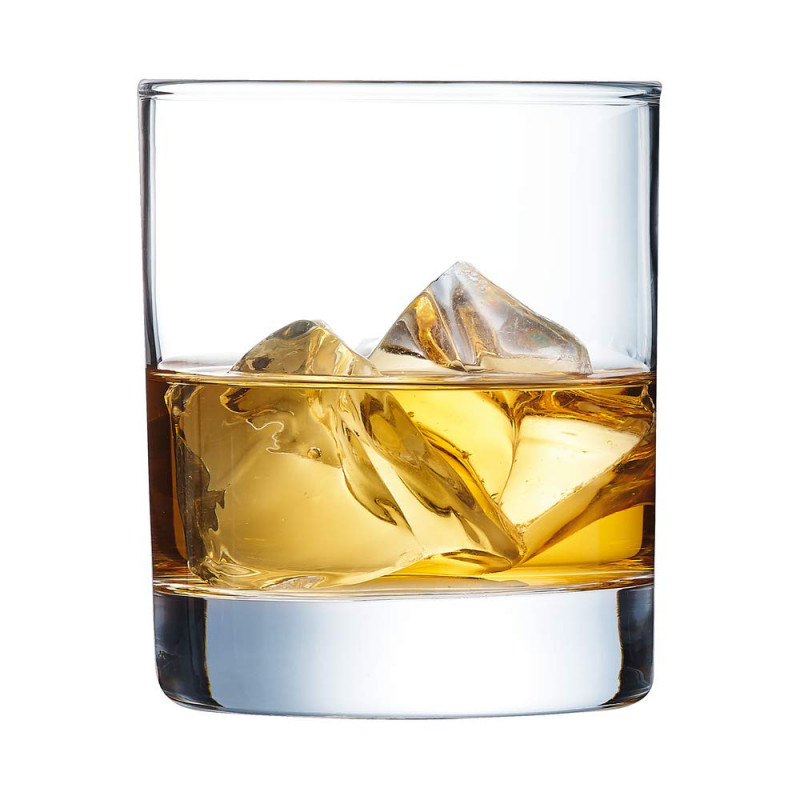 vaso Whisky cristal grueso grabado