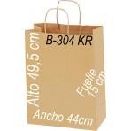 Bolsa papel Kraft 44x49,5 Asa Retorcida kraft