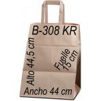 Bolsa papel Kraft liso 44X49,5 ASA PLANA
