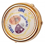 Juego de 2 botoneras acabado oro flash 24Q