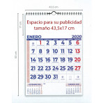 Calendario mensual pared 43x63