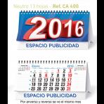 Calendario Sobremesa mensual Sin imágenes 22x14