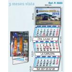 Calendario de pared 3 meses vista