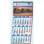 Calendario de pared 3 meses 4 idiomas