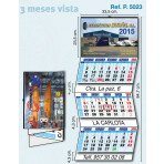 Calendario de pared 3 meses vista