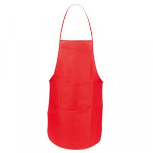 delantal promocional rojo