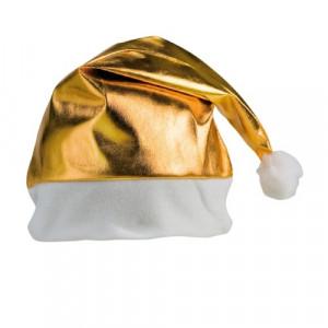 Gorro Papa Noel metalizado oro o plata.